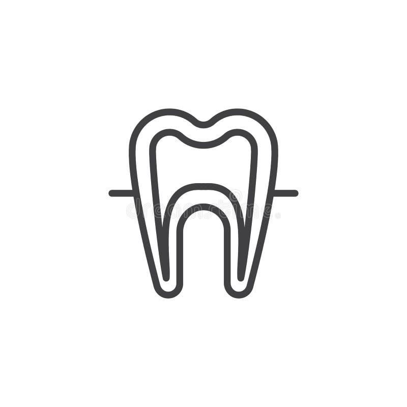 Значок плана человеческого зуба модельный иллюстрация вектора
