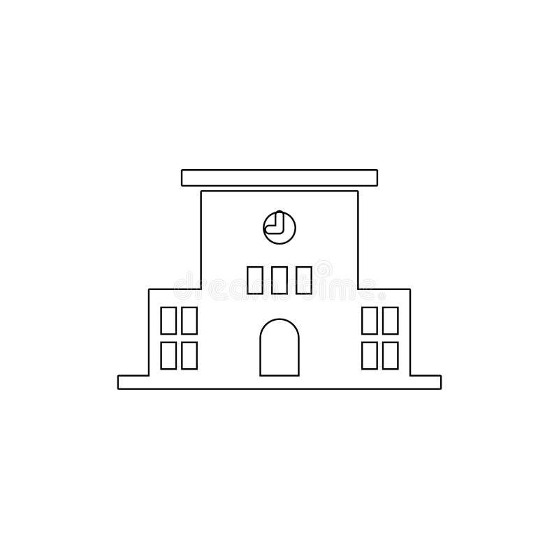 значок плана школьного здания Элементы значка иллюстрации зданий Знаки и символы можно использовать для сети, логотипа, мобильног бесплатная иллюстрация