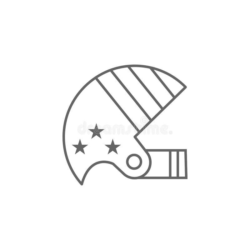 Значок плана шлема американского футбола r иллюстрация штока