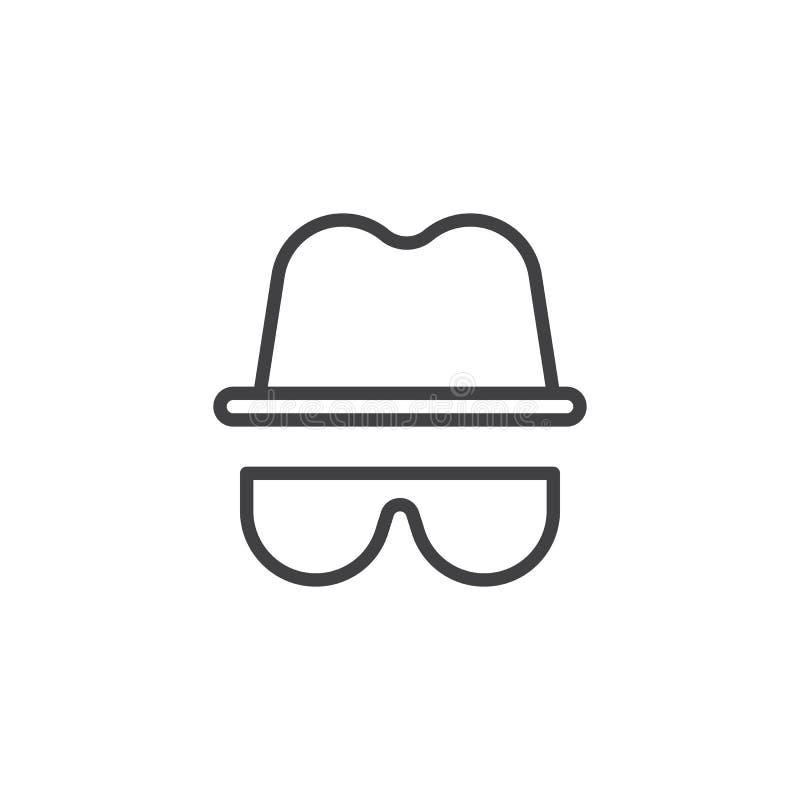 Значок плана шляпы и стекел иллюстрация штока