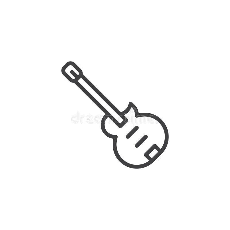 Значок плана электрической гитары бесплатная иллюстрация