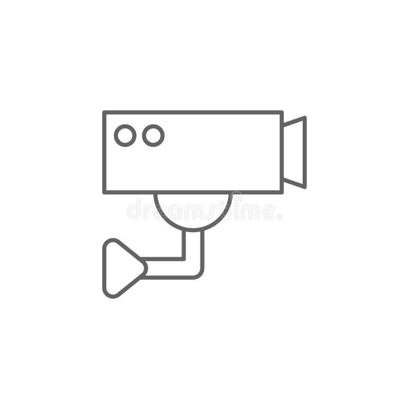 Значок плана cctv правосудия Элементы линии значка иллюстрации закона Знаки, символы и s можно использовать для сети, логотипа, ч иллюстрация штока