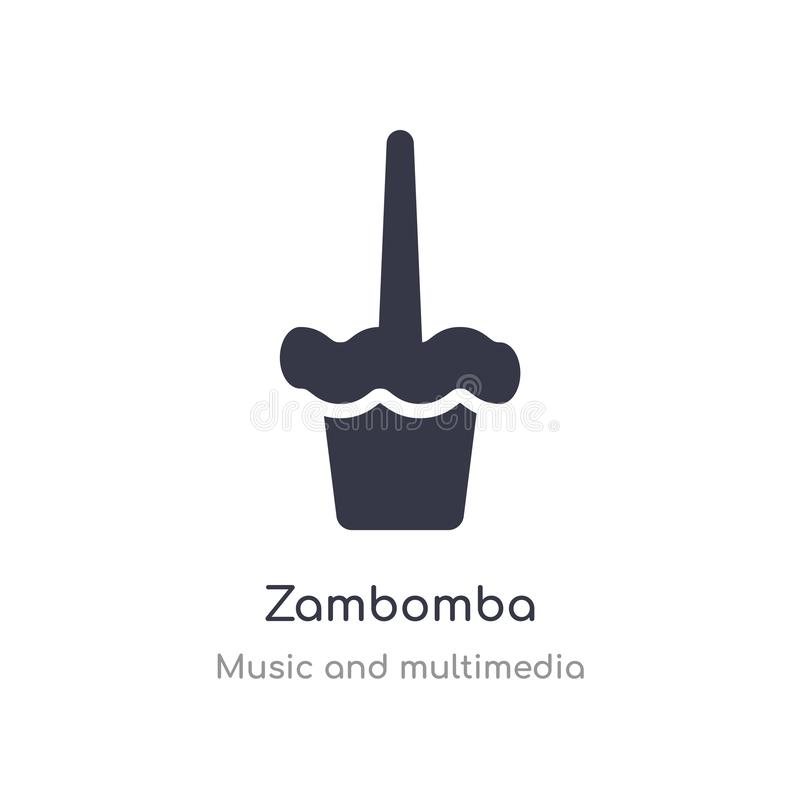 значок плана zambomba изолированная линия иллюстрация вектора от музыки и собрания мультимедиа editable тонкий значок zambomba хо бесплатная иллюстрация
