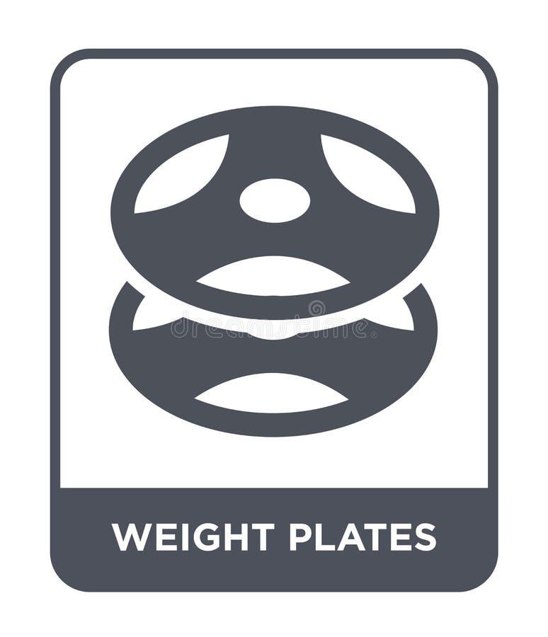 значок плит веса в ультрамодном стиле дизайна значок плит веса изолированный на белой предпосылке значок вектора плит веса просто бесплатная иллюстрация