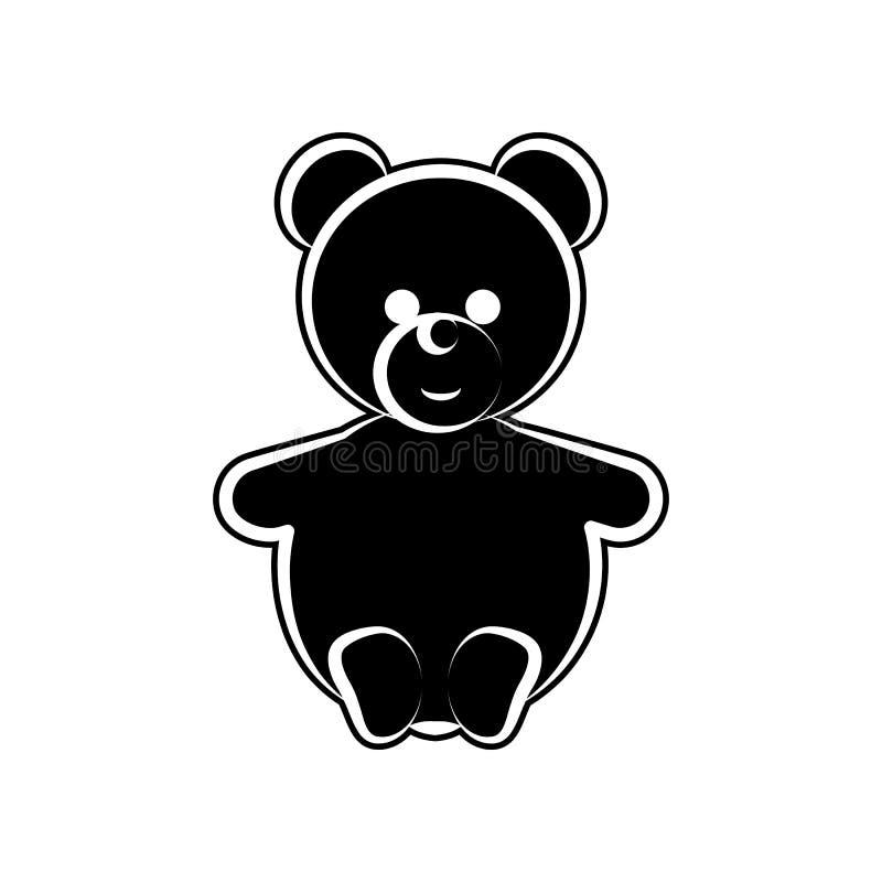 Значок плюшевого медвежонка Элемент материнства для мобильных концепции и значка приложений сети Глиф, плоский значок для дизайна бесплатная иллюстрация