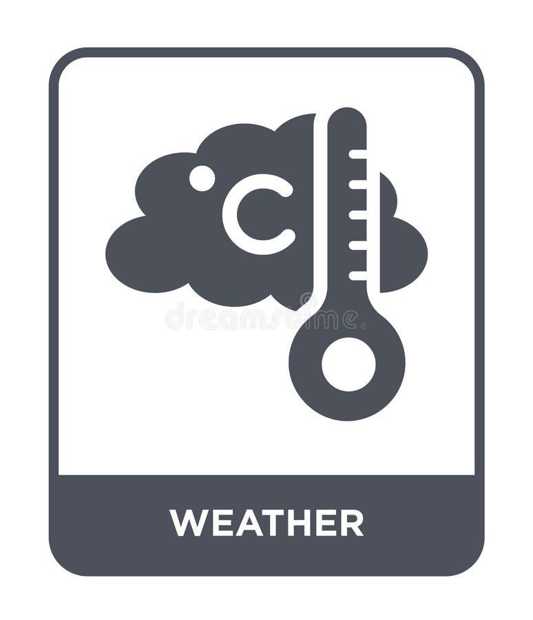 значок погоды в ультрамодном стиле дизайна Значок погоды изолированный на белой предпосылке символ значка вектора погоды простой  бесплатная иллюстрация