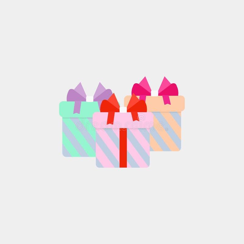 Значок подарка, подарки, праздничные подарки r 10 eps иллюстрация штока