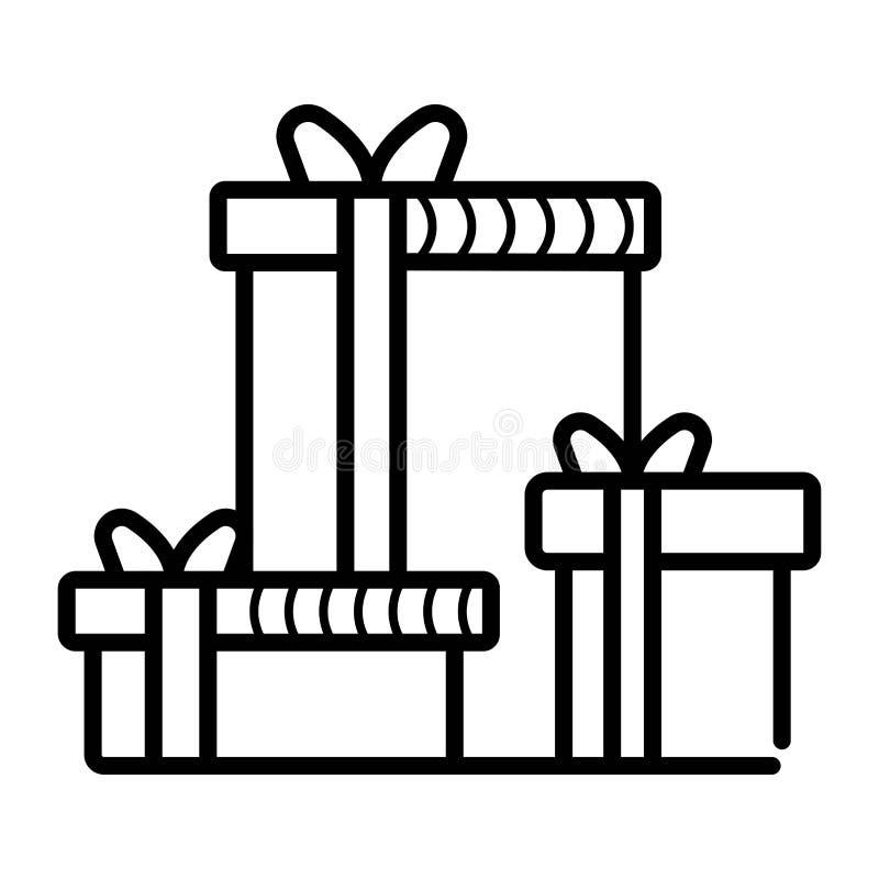 Значок подарочных коробок иллюстрация вектора