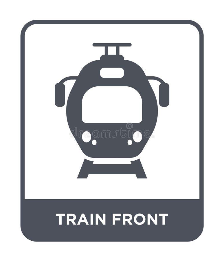 значок поезда передний в ультрамодном стиле дизайна значок поезда передний изолированный на белой предпосылке значок вектора поез иллюстрация вектора