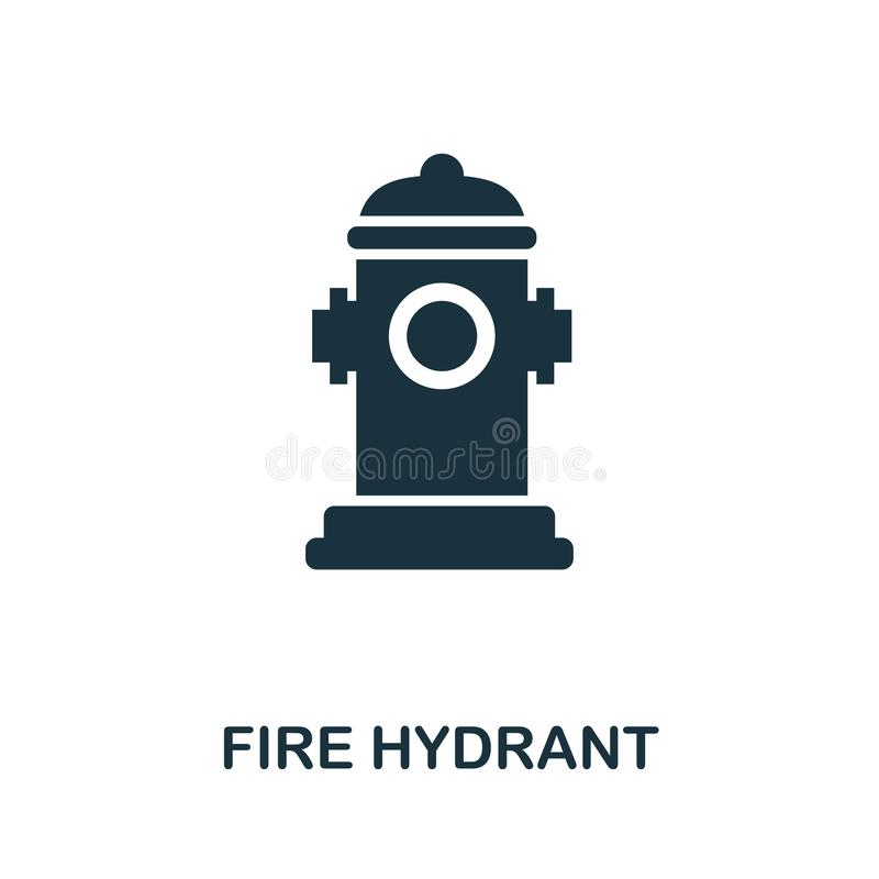 Значок пожарного гидранта Творческий дизайн элемента от собрания значков пожарной безопасности Значок пожарного гидранта пиксела  иллюстрация штока