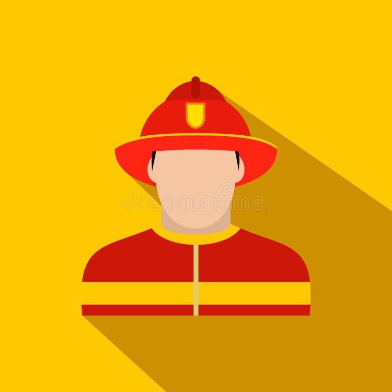 Значок пожарного плоский бесплатная иллюстрация