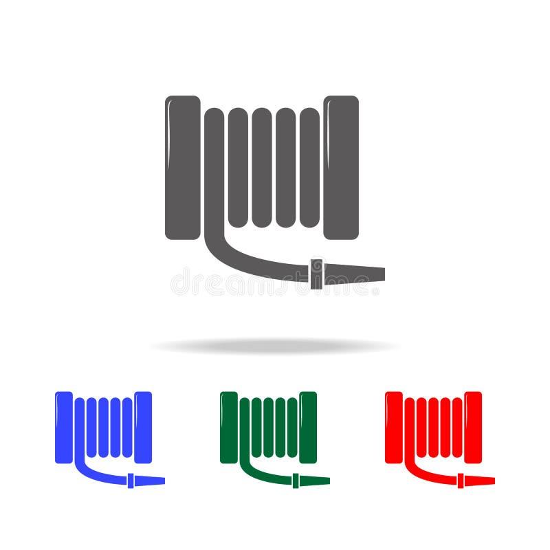 Значок пожарного рукава Элементы значков пожарного multi покрашенных Наградной качественный значок графического дизайна Простой з бесплатная иллюстрация