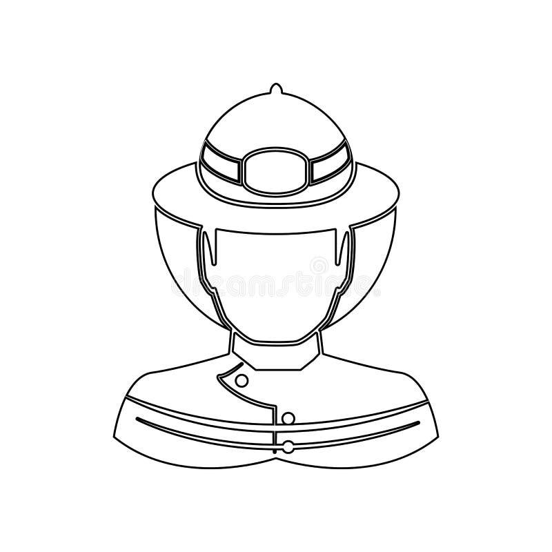 Значок пожарного Элемент пожарного для мобильных концепции и значка приложений сети r бесплатная иллюстрация