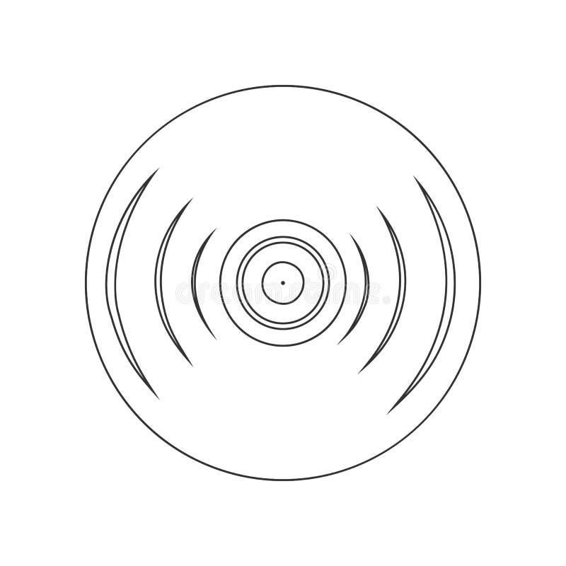 значок показателя винила Элемент зоопарка для мобильных концепции и значка приложений сети r иллюстрация вектора