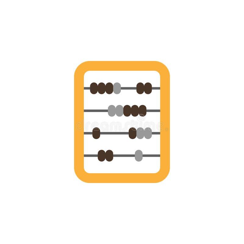 значок покрашенный абакусом Элемент значка иллюстрации образования r Знаки и значок собрания символа для бесплатная иллюстрация