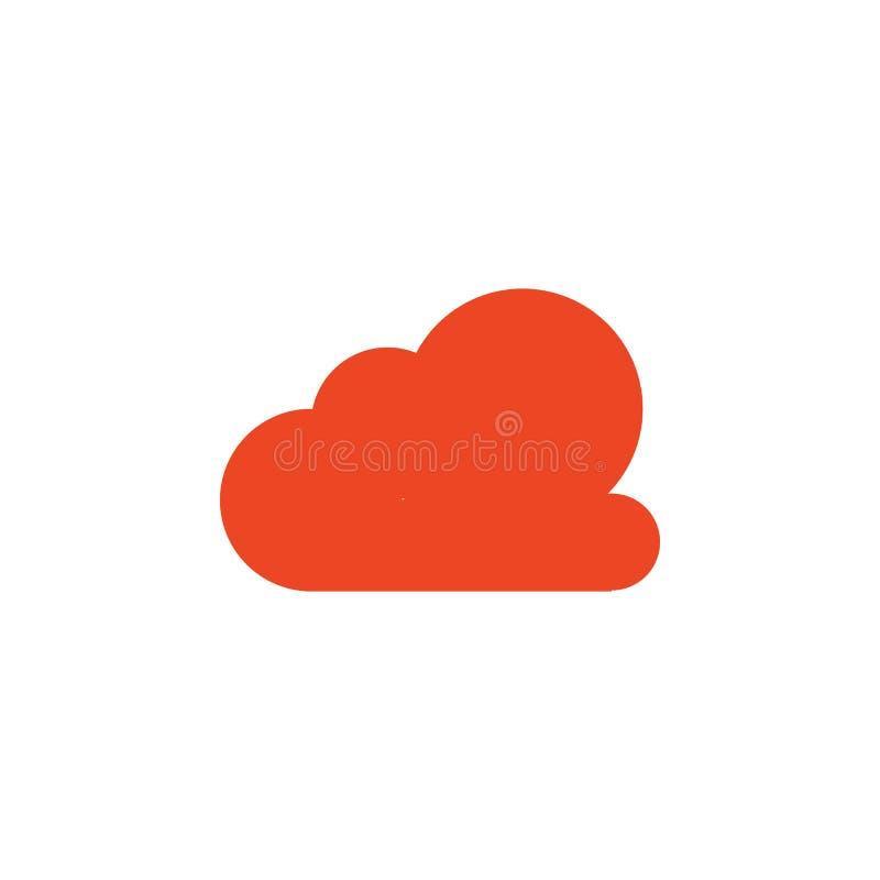 значок покрашенный облаком Элемент значка школы для передвижных apps концепции и сети Детальный значок облака можно использовать  иллюстрация штока