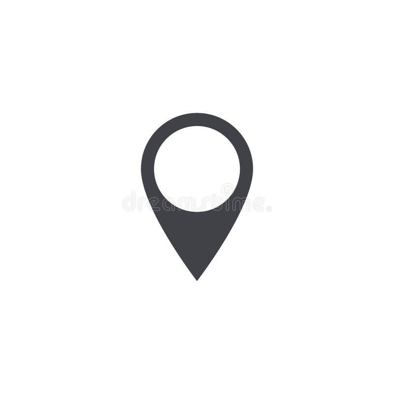 Значок положения карты вектора Форма положения карты Бирка положения Элемент для интерфейса вебсайта app ui дизайна Расположите ш иллюстрация штока