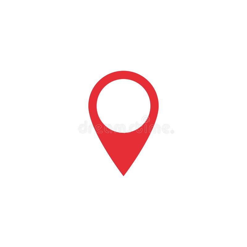Значок положения карты вектора Форма положения карты Красная бирка положения Элемент для интерфейса вебсайта app ui дизайна Распо иллюстрация вектора