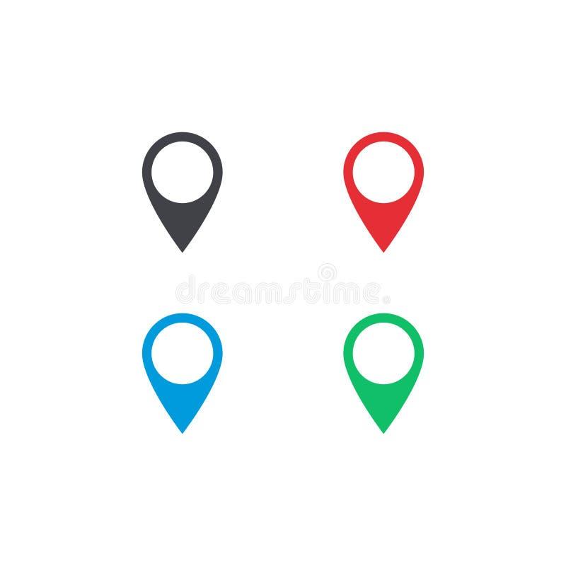 Значок положения карты вектора Форма положения карты Установленная бирка положения Элемент для интерфейса вебсайта app ui дизайна бесплатная иллюстрация