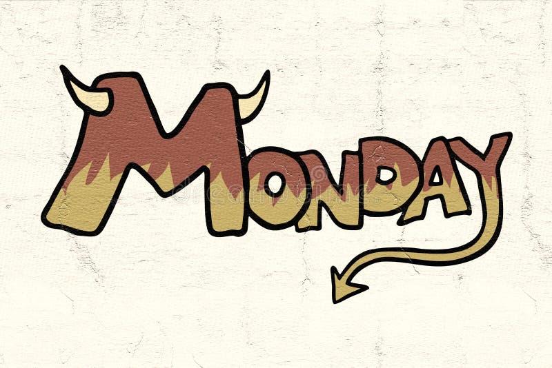 Значок понедельника иллюстрация вектора