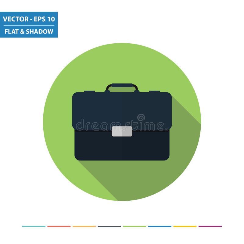 Значок портфеля плоский бесплатная иллюстрация