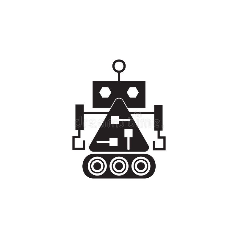 значок построителя робота Элемент роботов для знаков рекламы, передвижные apps концепции и сети Значок для дизайна и развития веб бесплатная иллюстрация