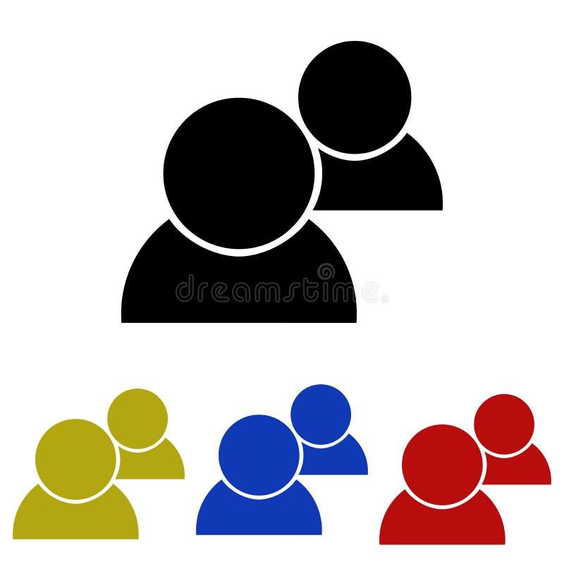 Значок потребителей иллюстрация штока