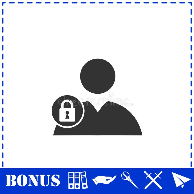 Значок потребителя блока плоско бесплатная иллюстрация