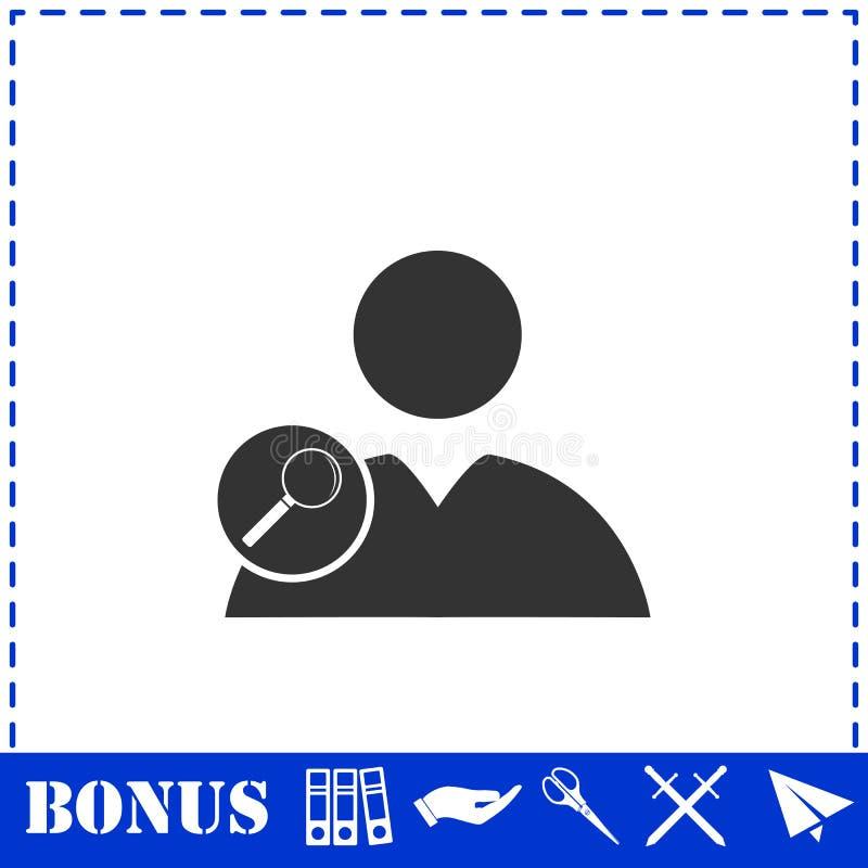 Значок потребителя поиска плоско бесплатная иллюстрация