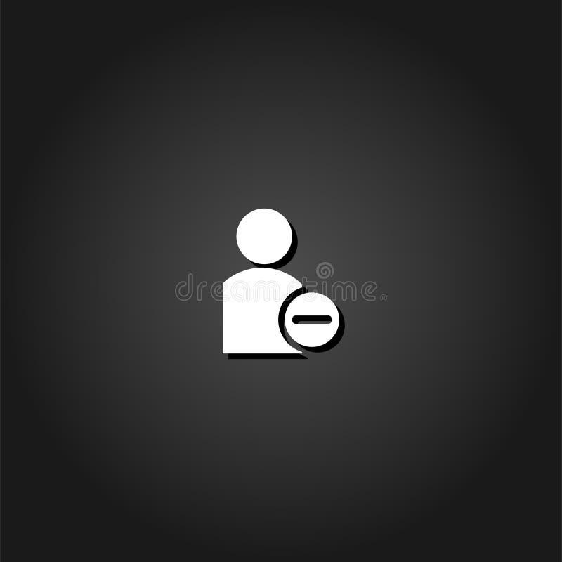 Значок потребителя удаления плоско иллюстрация штока