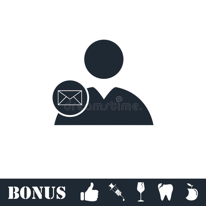 Значок почты потребителя плоско бесплатная иллюстрация