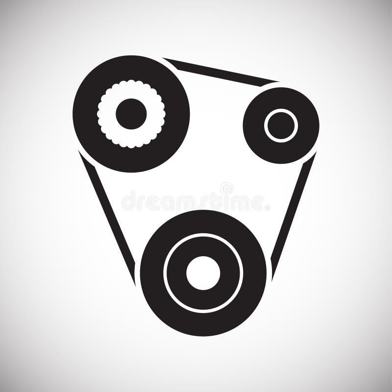 Значок пояса двигателя автомобиля на белой предпосылке для графика и веб-дизайна, современного простого знака вектора интернет пр иллюстрация штока