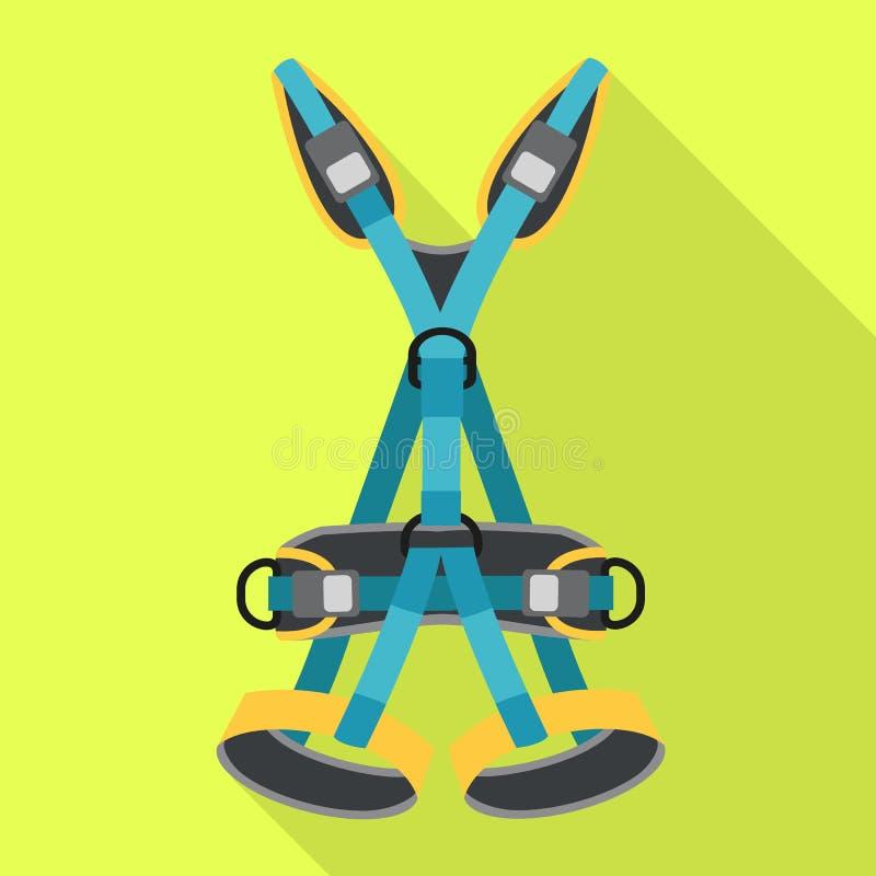 Значок пояса установленный, плоский стиль иллюстрация вектора