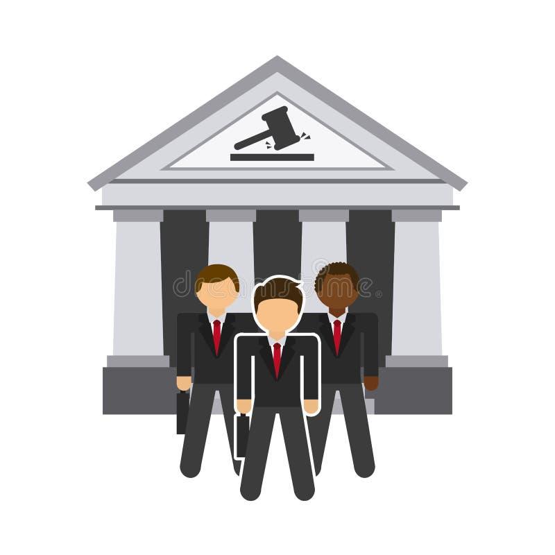 Значок правосудия иллюстрация вектора
