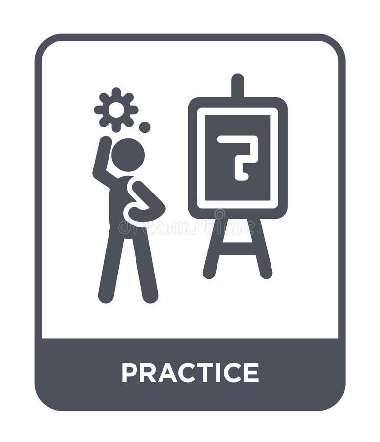значок практики в ультрамодном стиле дизайна значок практики изолированный на белой предпосылке квартира значка вектора практики  бесплатная иллюстрация