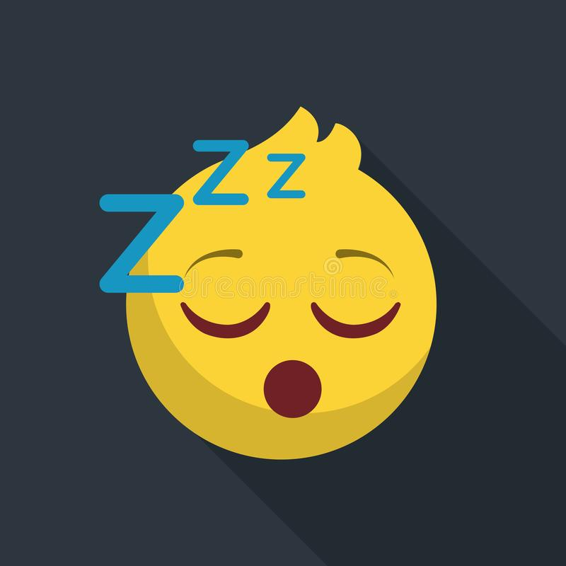 Значок предпосылки уснувшего emoji темный бесплатная иллюстрация