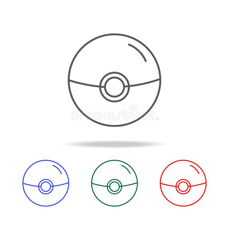 Значок прибора веб-камера Элементы жизни игры в multi покрашенных значках Наградной качественный значок графического дизайна Прос иллюстрация вектора