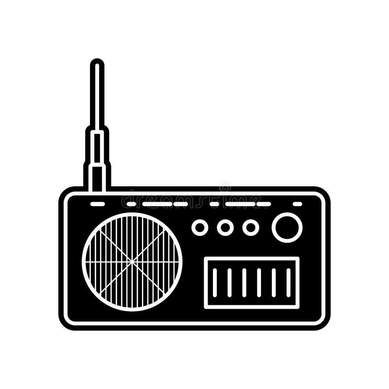 значок прибора радио Элемент инструмента средств массовой информации для мобильных концепции и значка приложений сети Глиф, плоск бесплатная иллюстрация