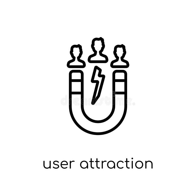 значок привлекательности потребителя Ультрамодное современное плоское линейное attr потребителя вектора иллюстрация вектора