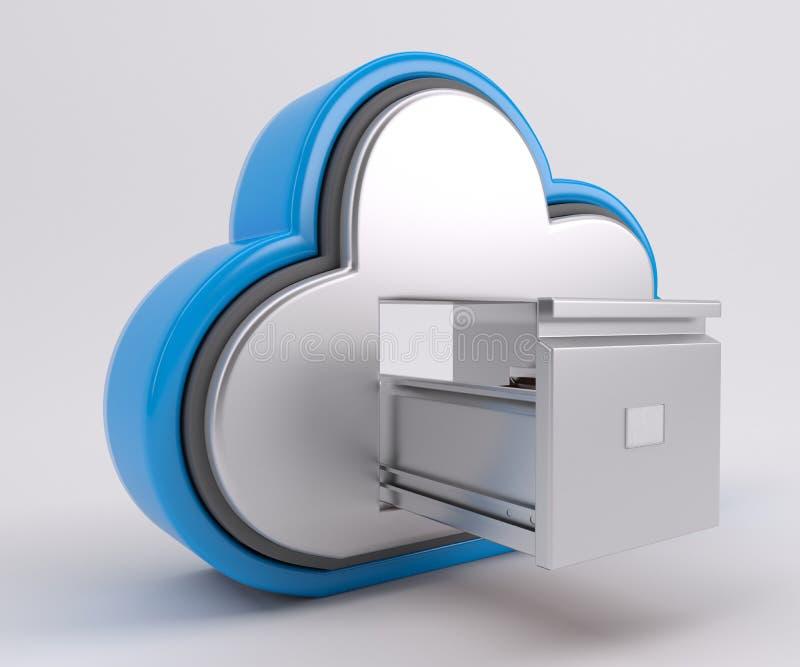 значок привода облака 3D иллюстрация штока