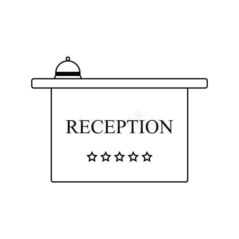 Значок приемной гостиницы с колоколом иллюстрация штока
