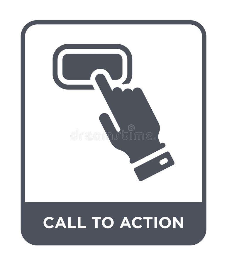значок призыва к действию в ультрамодном стиле дизайна значок призыва к действию изолированный на белой предпосылке значок вектор бесплатная иллюстрация