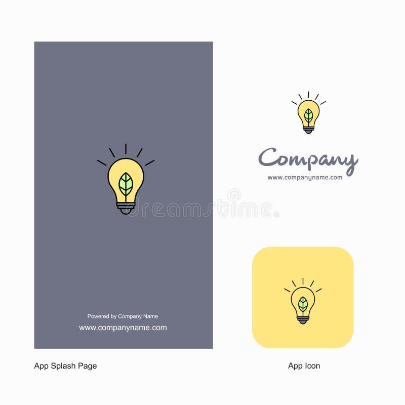 Значок приложения логотипа Идеи Компании и дизайн страницы выплеска r иллюстрация штока