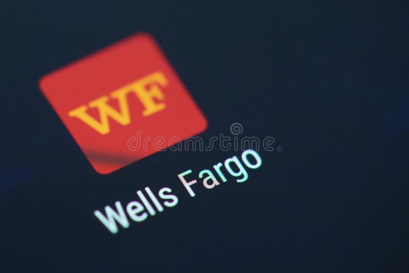 Значок применения банка Wells Fargo стоковое изображение