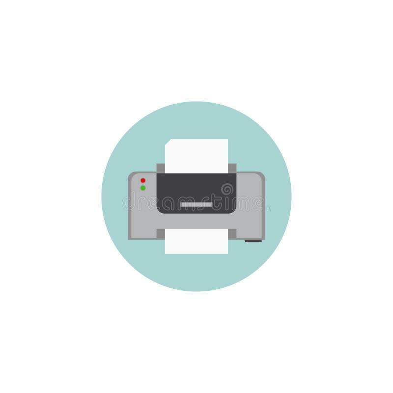 Значок принтера офис Белая предпосылка также вектор иллюстрации притяжки corel 10 eps иллюстрация штока