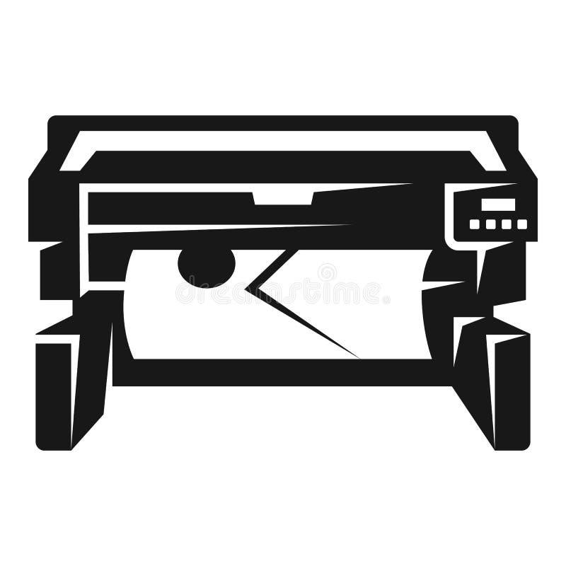 Значок принтера фото, простой стиль бесплатная иллюстрация