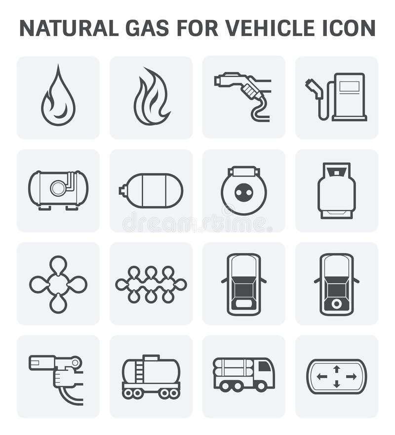Значок природного газа иллюстрация штока