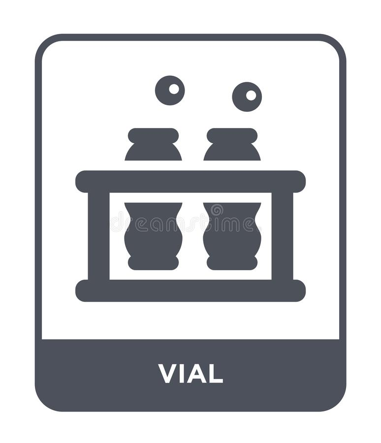 значок пробирки в ультрамодном стиле дизайна значок пробирки изолированный на белой предпосылке символ значка вектора пробирки пр иллюстрация штока