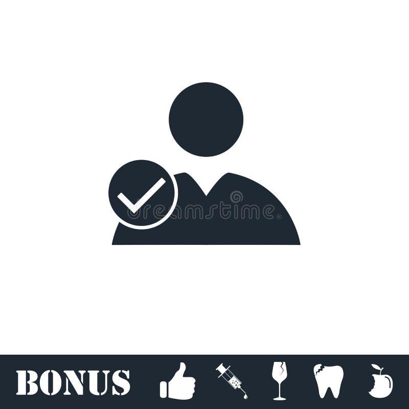 Значок проверки потребителя плоско бесплатная иллюстрация