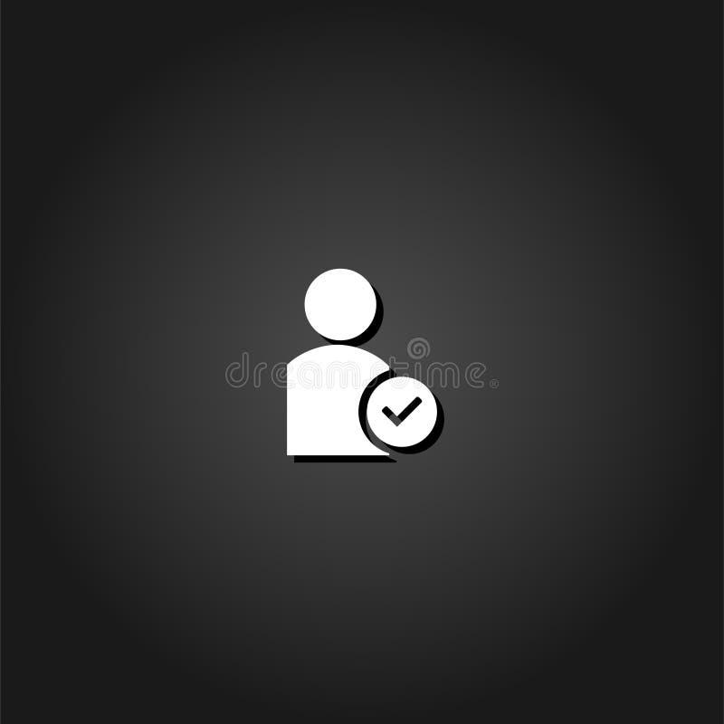 Значок проверки потребителя плоско иллюстрация штока